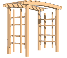 Arbors, how to build an arbor, build it yourself!