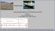 Wacky Lassie: an instant double paddle canoe to be built and used by kids