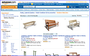Garden Benches at Amazon