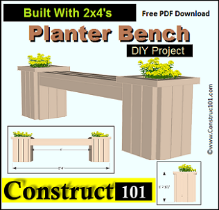 Outdoor Planter Bench Garden benches free outdoor projects and plans for do it yourselfers planter bench plans workwithnaturefo