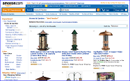 Birdfeeders and Accessories at Amazom