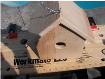 Attach birdhouse roof