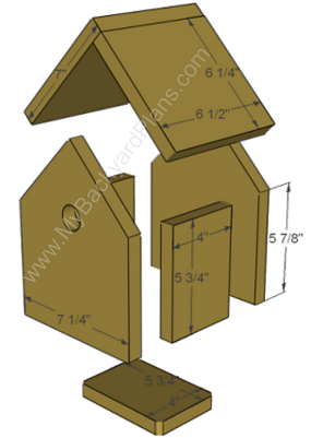 How to build a birdhouse, instructions and pictures