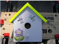 Decorate birdhouse