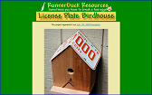 License Plate Birdhouse project