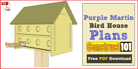 Bird house plans free simple to build projects for Martin house designs