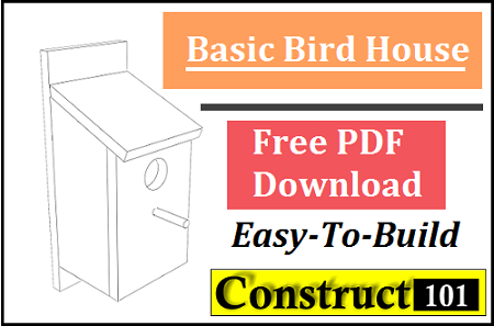 bird house plans, free simple to build projects, instructions and