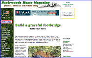Build a graceful footbridge by Harrison Stone