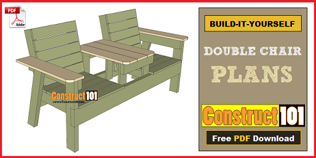 double chair plans  sc 1 st  MyBackyardPlans.com & Free Chair Plans Step-By-Step