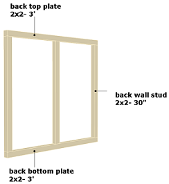 dog house back wall frame