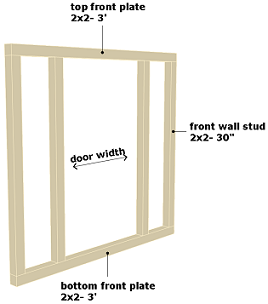 dog house front wall frame