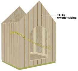 dog house plans | exterior siding