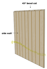 dog house plans | side wall siding