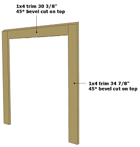 dog house plans | side wall trim
