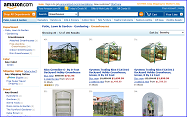 Greenhouse kits at Amazon