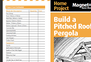 Build A Pitched Roof Pergola