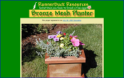 The RunnerDuck Bronze Mesh Planter, step by step instructions.