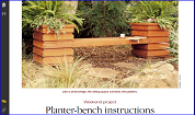 Planter-bench instructions