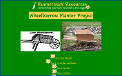 The RunnerDuck Old Fashion Lawn Wheelbarrow Planter Project, step by step instructions.