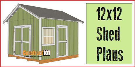 Garden Sheds 12 X 12 how to build a shed - free shed plans - build-it-yourself!