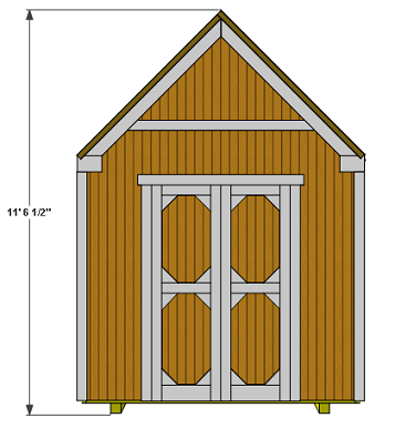 gable shed height