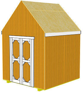 cut storage shed siding