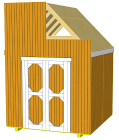 gable shed top siding