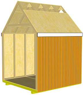 storage shed 4'x8' plywood decking