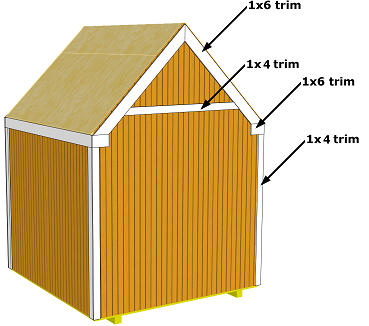 back storage shed trim