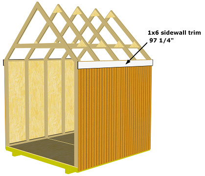 storage shed sidewall trim