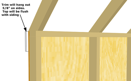 shed sidewall trim details