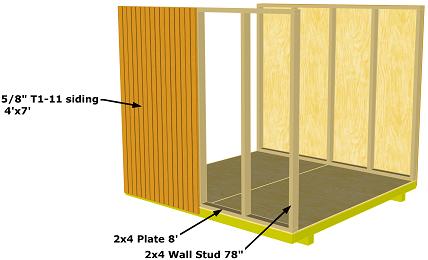 Storage Shed Sidewall Details