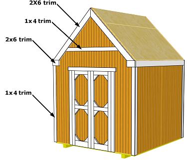 storage shed trim