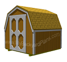 Gambrel Storage Shed