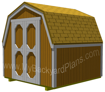 Material needed for installing the shed trim, shingles and paint