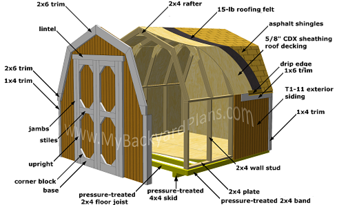 shed framing plans