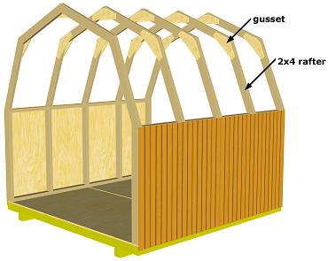 trusses shed plans gambrel roof house plans diy barn sheds kits with