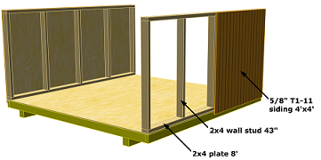 storage shed sidewall