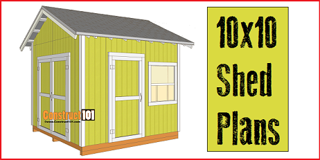 10x10 Shed Plans Includes A Free PDF Download.