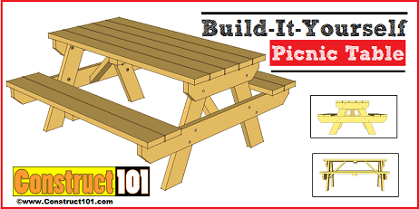 picnic table plans - Garden - Patio - And Picnic Table Plans - Free DIY Outdoor Plans